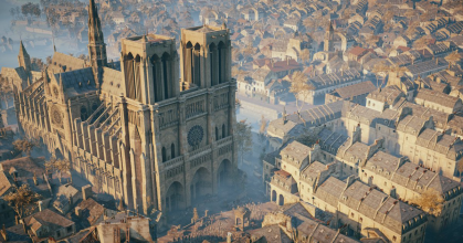 Ubisoft reaguje na požár Notre-Dame